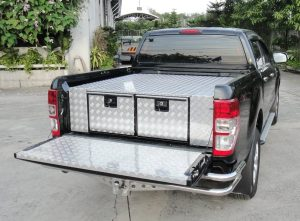 Aluminium-twin-drawer-400