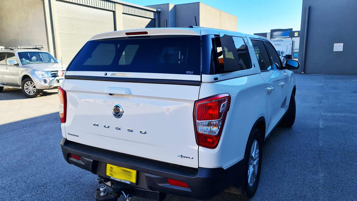 Elysium Canopy on SsangYong Musso -Short Tub- 2018- rear view