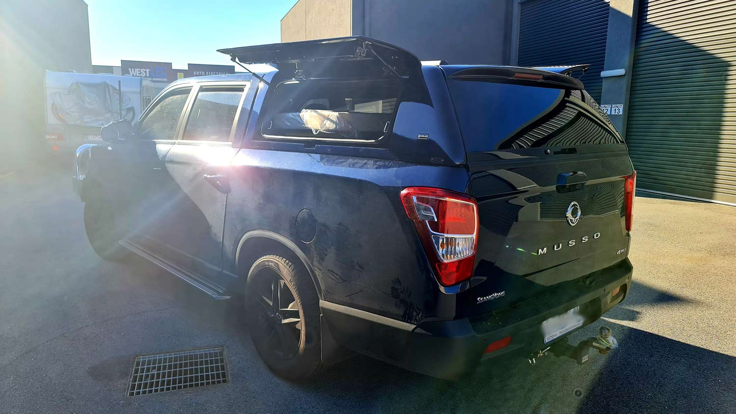 Force Pro Plus Ssang Yong Musso -rear view